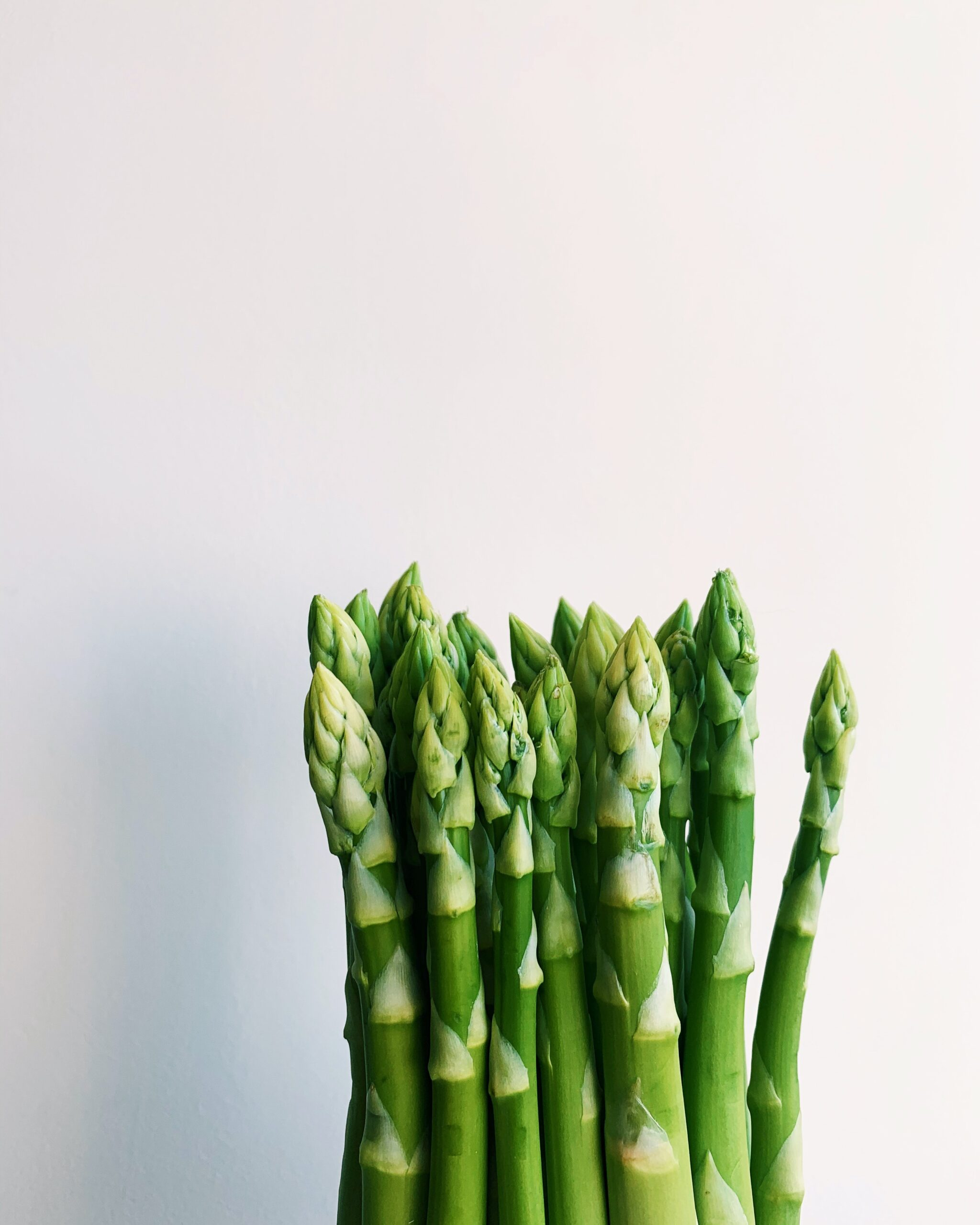 A bunch of asparagus tips